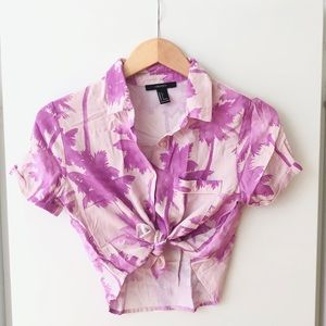 Hawaiian Vintage Palm Print Shirt